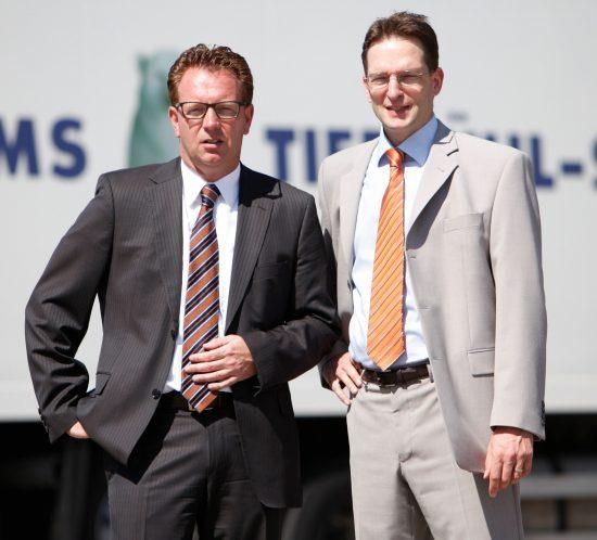 Die Geschäftsführenden Gesellschafter der WILMS Tiefkühl-Service GmbH, Markus Wilms (li.) und Armin Feemers