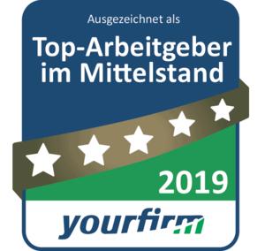 Siegel Top Arbeitgeber 2019