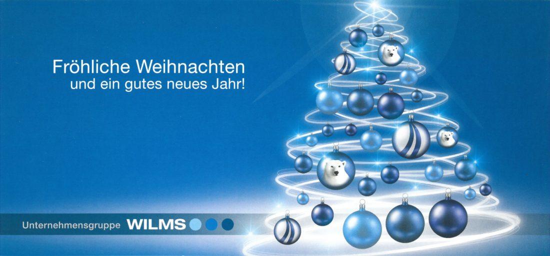 Weihnachtsgruß der Unternehmensgruppe WILMS