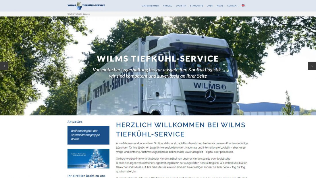 Homepage Relaunch bei WILMS Tiefkühl-Service